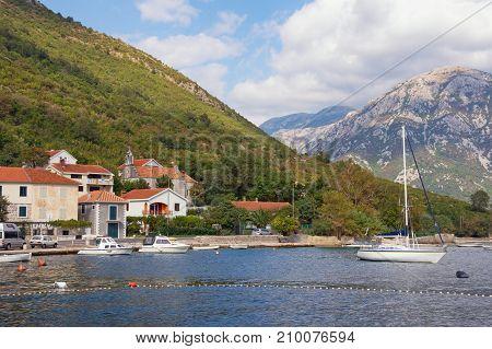 Mediterranean village of Kamenari on an autumn day. Bay of Kotor, Montenegro