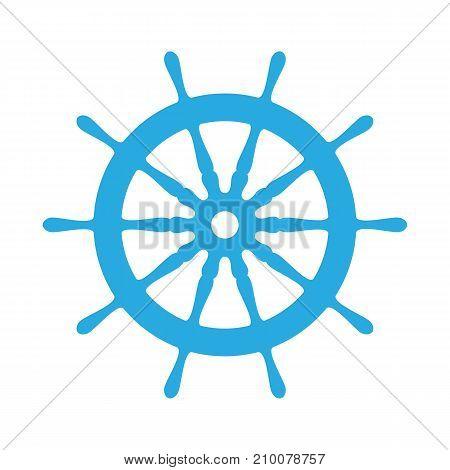 emblem of ship wheel on a white background