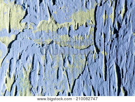 blue decorative plaster as a background . Photo of an abstract texture