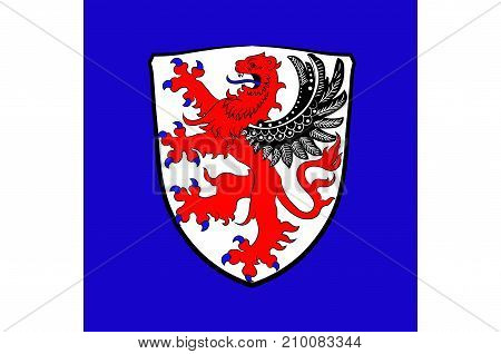 Flag of Giessen is a town in Giessen is a district of Hessen Germany. Vector illustration