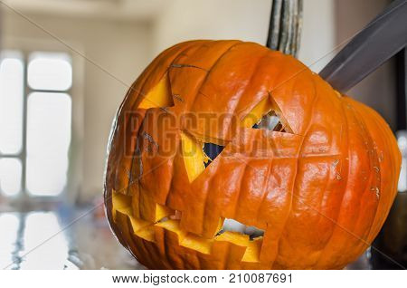 Head Jack Lantern Pumpkin