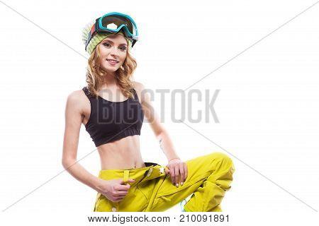 Slim Girl In Top Standing Victory