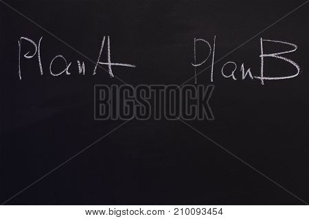 If there is a plan A do plan B