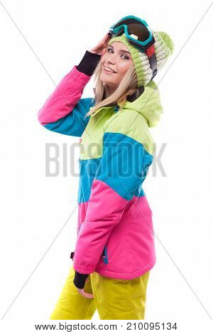 Pretty Young Woman In Ski Outfit