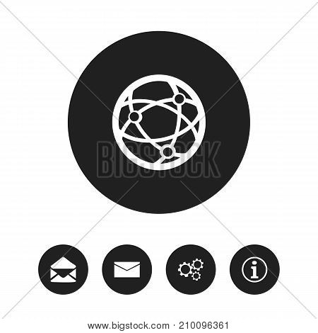 Set Of 5 Editable Internet Icons. Includes Symbols Such As Letter, Faq, Network And More