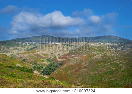 The Hills on Cabo da Roca , the extreme point of Europe, Sintra, Portugal