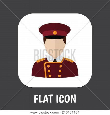 Vector Illustration Of Job Symbol On Porter Flat Icon
