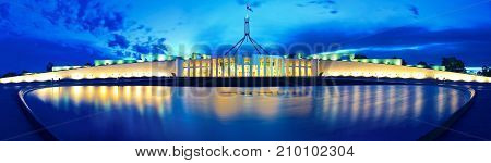 Panorama of Parliament Canberra Australia - Capital City