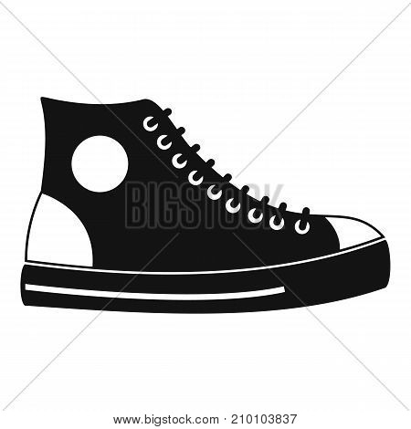 Men shoe icon. Simple illustration of men shoe vector icon for any web design