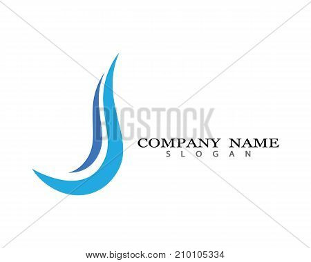 J Letter Logo Business Template Vector icon