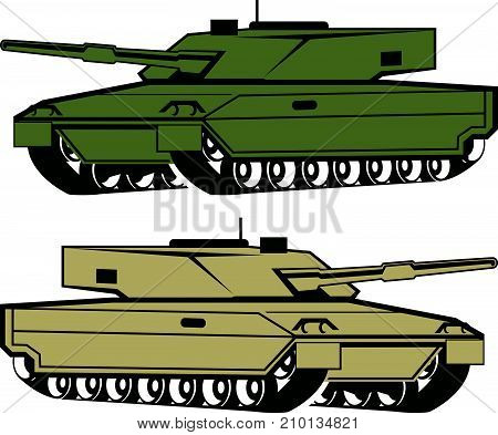 Tanks vector illustration clip-art image eps file poster