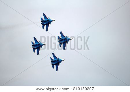 Fighters In The Sky, The Flight Of The Aircraft, A Beautiful Airshow