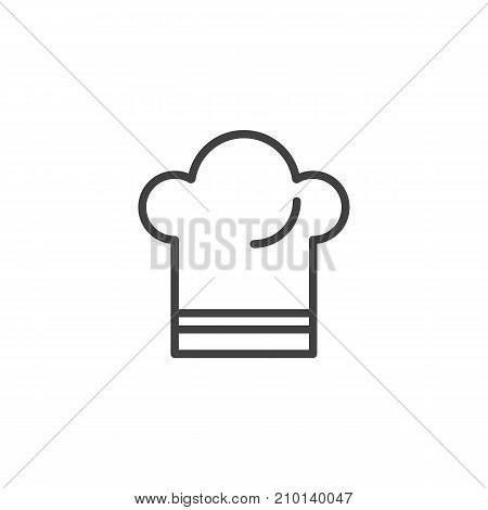 Chef hat line icon, outline vector sign, linear style pictogram isolated on white. Symbol, logo illustration. Editable stroke