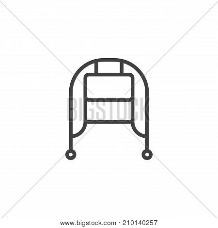 Winter hat line icon, outline vector sign, linear style pictogram isolated on white. Symbol, logo illustration. Editable stroke