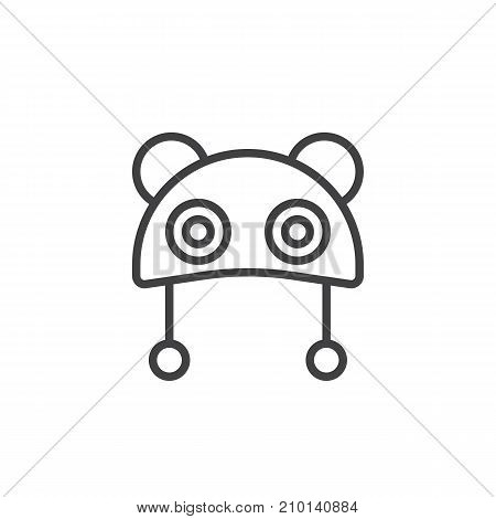 Baby hat line icon, outline vector sign, linear style pictogram isolated on white. Symbol, logo illustration. Editable stroke
