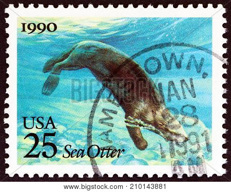 USA - CIRCA 1990: A stamp printed in USA from the