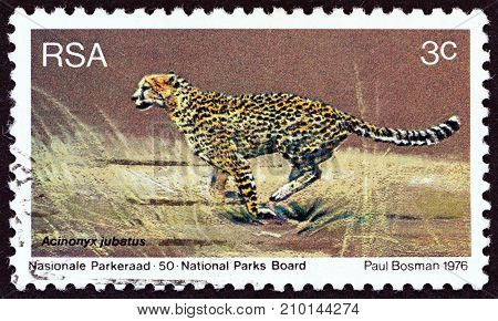 SOUTH AFRICA - CIRCA 1976: A stamp printed in South Africa from the