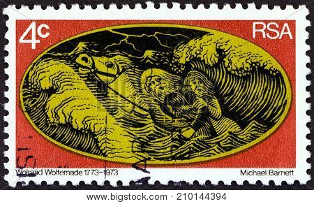 SOUTH AFRICA - CIRCA 1973: A stamp printed in South Africa from the