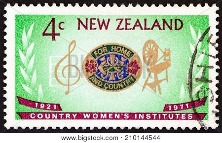 NEW ZEALAND - CIRCA 1971: A stamp printed in New Zealand from the