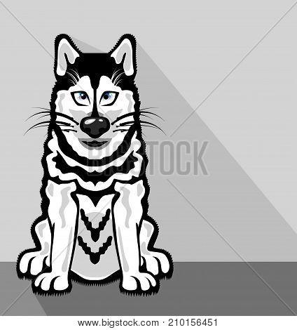 Alaskan Dog Vector Illustration Clip-art Image Eps