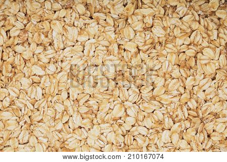 Texture of oatmeal as a background. Top view.