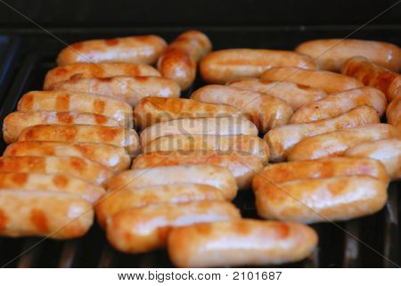 Sausages On A Bbq