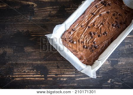 Brownie Or Chocolate Cake Raw Dough