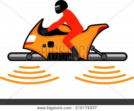 Hover Craft Motorcycle Vector Illustration Clip-art Image Eps