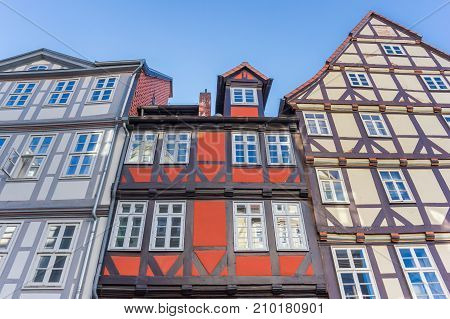 Colorful half timbered houses in Hannover Germany