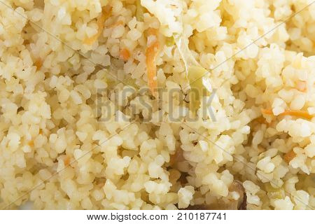 Delicious rice with vegetables.  Photo can be used as a whole background.