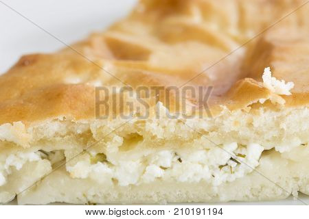 Cottage cheese tart. Photo can be used as a whole background.