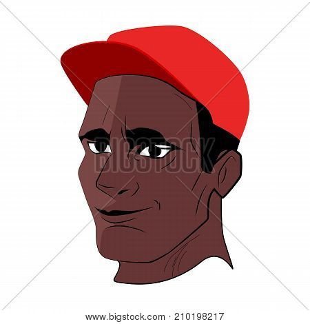 The black man face responsible vector illustration.