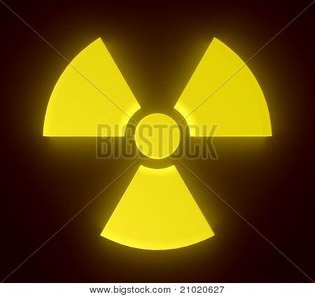 Glowing radioactive sign.