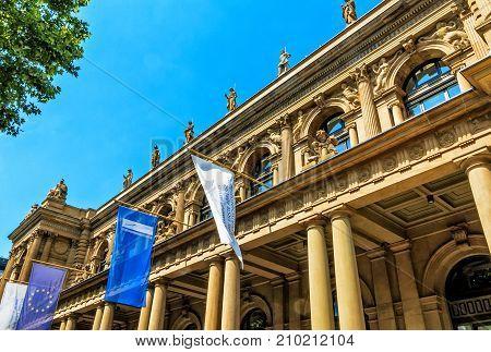 FRANKFURT, GERMANY-JULY 17, 2017: Frankfurt Stock Exchange Financial Metropolis in Germany