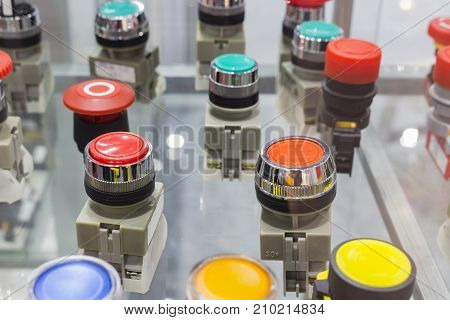 emergency stop and on / off buttons ;Security push switch