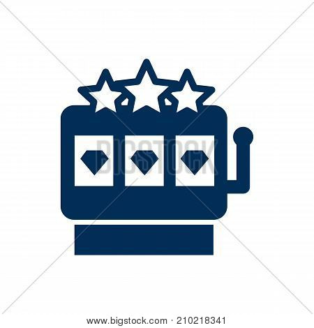 Isolated Slot Machine Icon Symbol On Clean Background