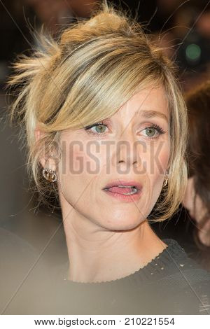 CANNES, FRANCE - MAY 19, 2016: Marina Fois attends the 'It's Only The End Of The World (Juste La Fin Du Monde)'  premiere during the 69th annual Cannes Film Festival at the Palais des Festivals