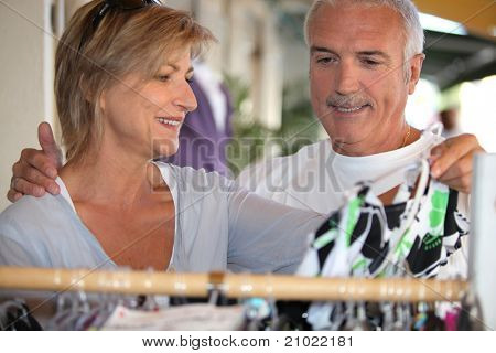 Man and woman shopping together