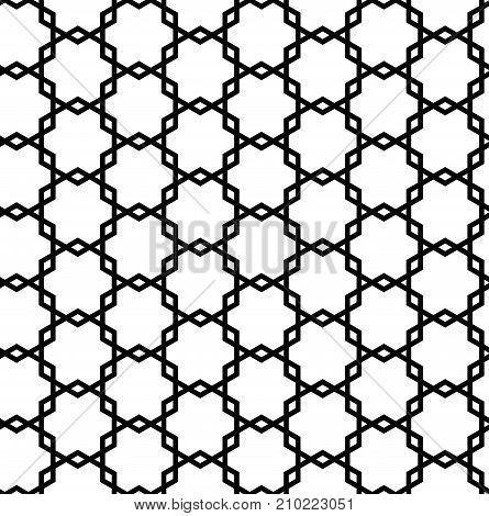 seamless geometric abstract pattern black outline shilhouette