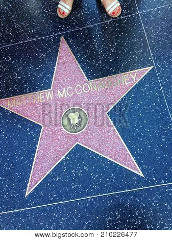 Matthew Mcconaughey Hollywood Walk Of Fame Star.
