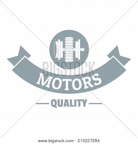 Power machinery logo. Simple illustration of power machinery vector logo for web