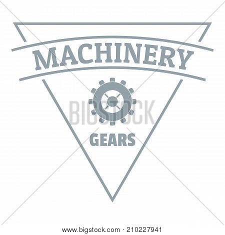 Gear machinery logo. Simple illustration of gear machinery vector logo for web