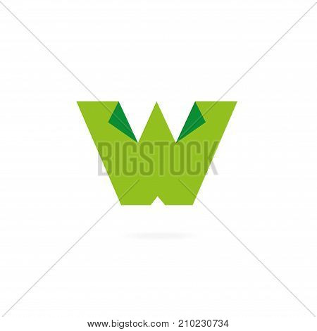 Letters W logo. Design template elements, icons, paper.