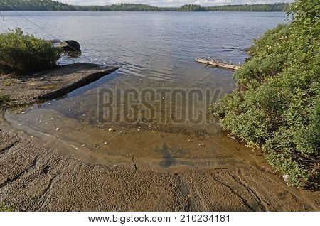 Quiet Inlet in the Wilderness on Tuscarora Lake in the Boundary Waters in Minnesota