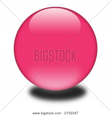 3D Pink Colored Sphere