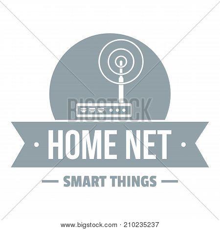 Home net logo. Simple illustration of home net vector logo for web
