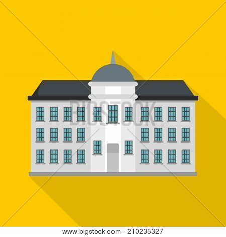 Capital building icon. Flat illustration of capital building vector icon for web