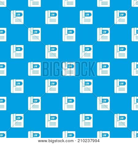 Law book pattern repeat seamless in blue color for any design. Vector geometric illustration