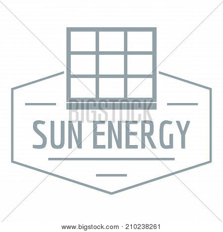 Sun energy logo. Simple illustration of sun energy vector logo for web