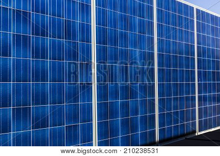 Indianapolis - Circa October 2017: Mobile Photovoltaic Solar Panels on trailers. The ultimate in portable and emergency power each unit is also equipped with a generator II